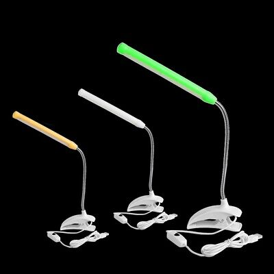Rechargeable LED Reading Lights Clip-on Clamp Bed Table Desk Lamp Adjustable