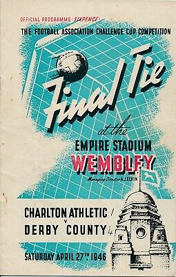 FA CUP FINAL PROGRAMME 1946 Derby County v Charlton Athletic