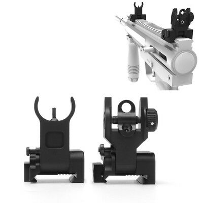 Flip up Front&Rear Iron Sight Set BUIS Sights Mil Spec Dual Apertures