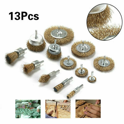 Crimped Wire Brush Drill Attachments Rust removal Trim Rotating Durable