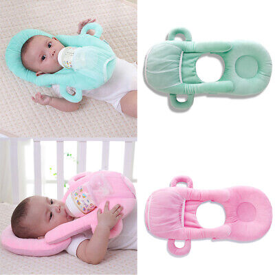 UK  Newborn Infant Baby Feeding Nursing Cushion Pillow Prevent Flat Head 2 Color