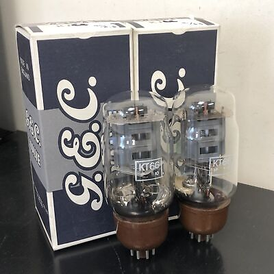 Kt66 Gec Vintage Nos Boxed Pair Valve/Tube (Lc62)