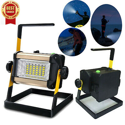 50W 36LED Rechargeable Outdoor Camping Flood Light Portable Waterproof Work Lamp