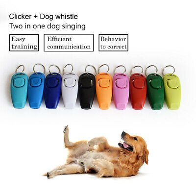 Pro Dog Clicker Whistle Training, Obedince, Pet Trainer Click Puppy With Guide