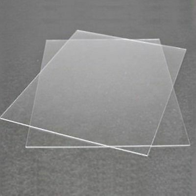 Acrylic Perspex Sheet Glass Clear Plastic For Replacement Glazing 1mm & 2mm