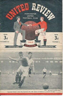 Manchester United v Charlton Athletic 1948/9 - Football Programme