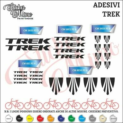 TREK Adesivi Bici Kit Adesivi Stickers 26 Pezzi Bike Cycle pegatina DECALCOMANIA
