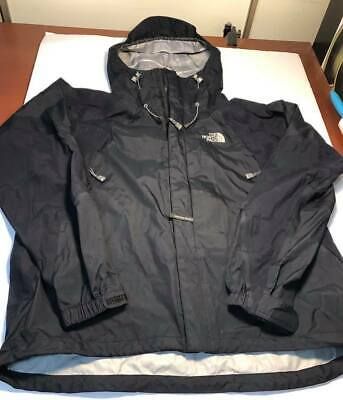 f4b4a9444 MENS USED THE North Face Hyvent Dt Black Hooded Light Rain Jacket ...