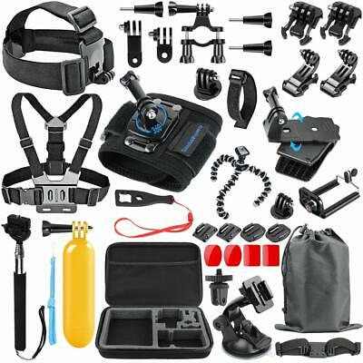 51-in-1 Accessories Kit Essential GoPro Hero5 Session 5/4/3/2/1 Bundle Black New