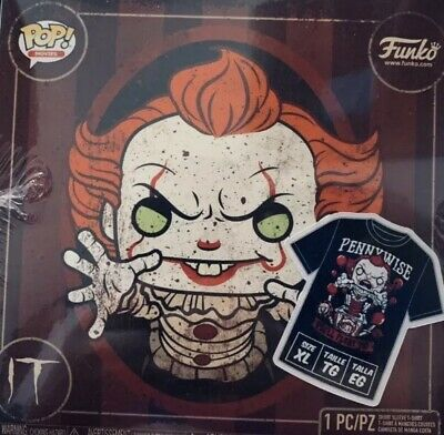 Funko Pop! Metallic Pennywise With Balloon + T-Shirt Size XL ~ Hot Topic Sealed!
