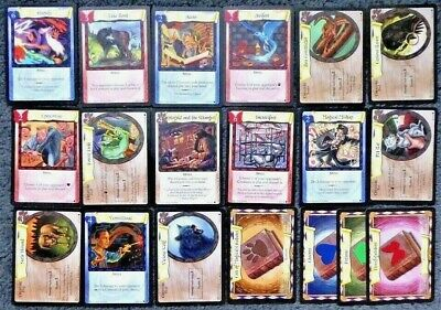 Lot of 19 Harry Potter Trading Cards Trading Card Game 2001 - No Doubles