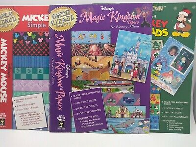 3 Paper Pizazz Hot Off The Press Disney Papers Christmas Magic Kingdom Mickey