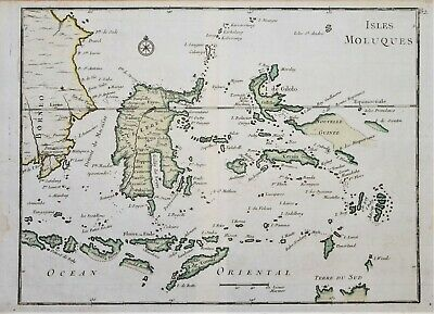 East Indies – Isles Moluques By Le Rouge, Paris 1748.