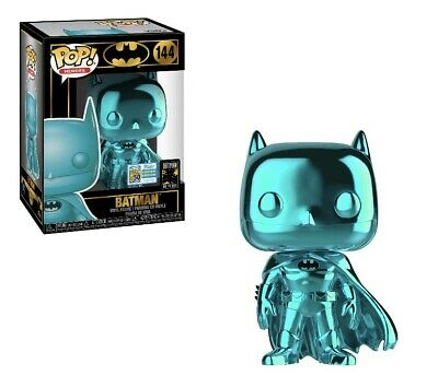 Mint Funko Pop DC TEAL CHROME BATMAN SDCC 2019 SHARED EXCL Preorder