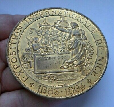 1883 1884  Exposition French Art Medal / Medaille D'or Expo Nice