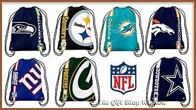 Nfl Team Drawstring Logo Gym Sports School Bag Dallas Packers Dolphins Giants
