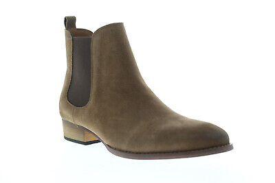 c15f1950254 STEVE MADDEN PATERSON Mens Brown Suede Casual Dress Slip On Boots Shoes 10