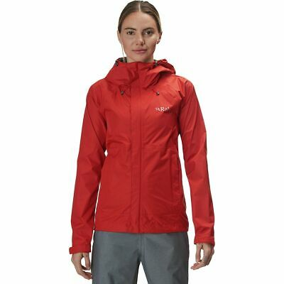 Rab Downpour Hooded Jacket - Women's Firecracker S