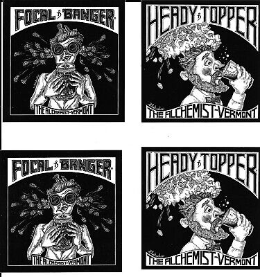NEW 2 Heady Topper STICKERs AND 2  FOCAL BANGER stickers ALCHEMIST BREWING