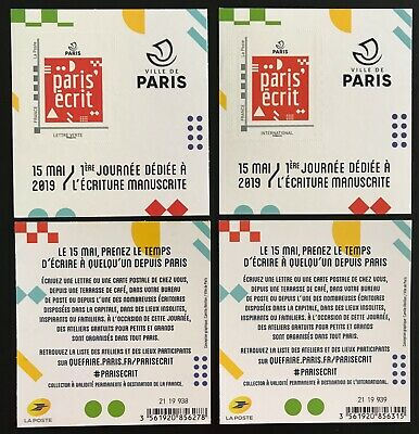 Vends 2 Blocs Collectors Lettre Verte & International «Paris-Écrit 2019» Rare **