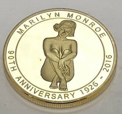 Marilyn Monroe Gold 3D Coin Movie Star Icon Film Americana LA Singer Music Song