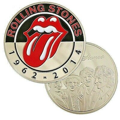 Rolling Stones Silver Coin Concert Tour Logo Flowers Heavy Metal World Famous UK