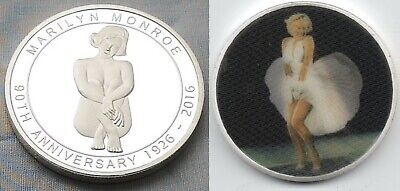 Marilyn Monroe Silver 3D Coin Moving Image Old Naked Woman Sexy Beautiful Retro