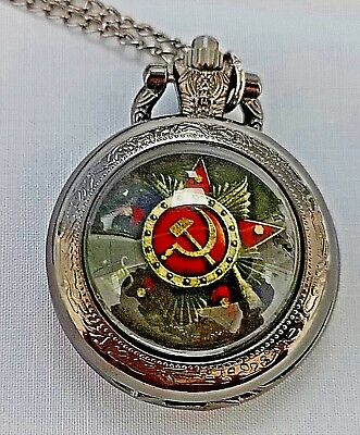 Russian Pocket Watch CCCP Hammer Sickle Army Cold War Old KGB WW2 WW1 Army Retro