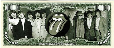 Rolling Stones Bank Note Pop Music Mick Jagger Band 60s Retro Old Vintage Photo