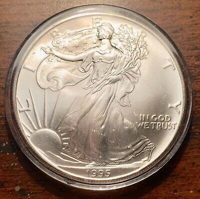 1995 Silver United States $1 American Eagle Coins Brilliant Uncirculated+