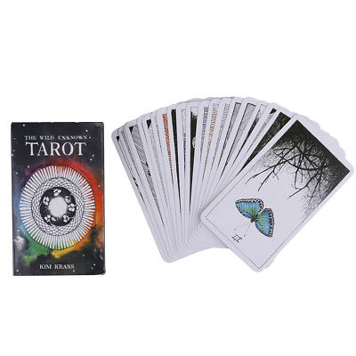 78pcs the Wild Unknown Tarot Deck Rider-Waite Oracle Set Fortune Telling Card~S1