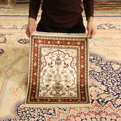 Yilong 1.5/'x2/' Small Oriental Area Rugs Hand Craft Antique Silk Carpets 116AB