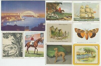 63 Large Cigarette Cards c.1910-1940's (Various Issuers & Subjects) All Diff.