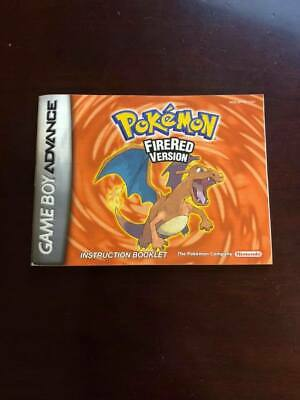 Pokemon: FireRed Version (Nintendo Game Boy Advance, 2004) - MANUAL ONLY