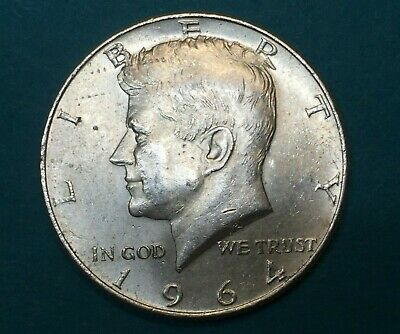 1964-P US Kennedy Half Dollar 50¢ Cent .900 Silver Net .3617 oz. JFK Portrait