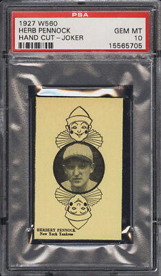 1927 W560 Herb Pennock PSA 10 New York Yankees HOF