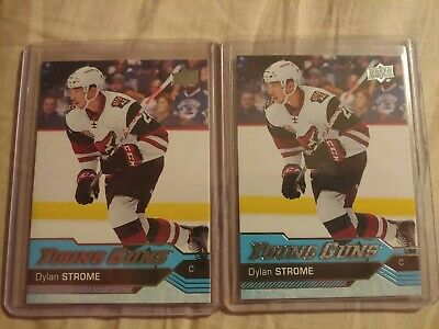 2016-2017 Upper Deck Series 2 Young Guns Dylan Strome #498 Rookie RC 2 Card Lot