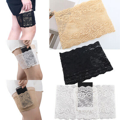 Elastic Lace Thigh Bands Anti Chafing Non Slip Leg Sock Prevent Abrasion PAIR
