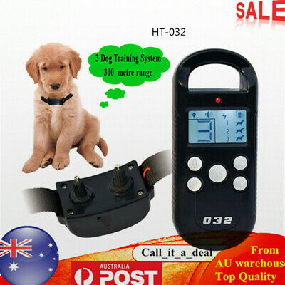 Anti Bark Dog Training Collar Pet Trainer Remote Dog Training Stop Barking Safe