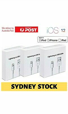 USB Lightning Charging Cable Data for Genuine Apple Charger iPhone iPad 6 8 7