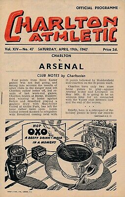 CHARLTON v Arsenal 1946/7 - Football Programme