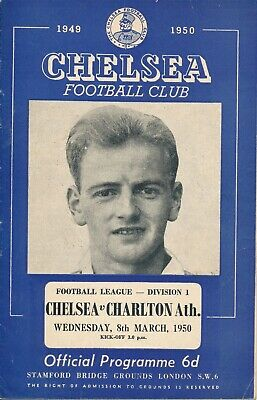 CHELSEA v Charlton Athletic 1949/50  Football Programme
