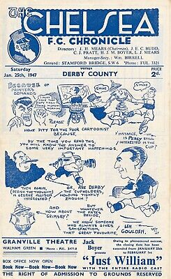 CHELSEA v Derby County (FA Cup) 1946/7