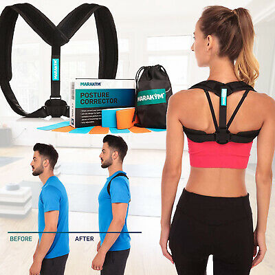 MARAKYM Posture Corrector Adjustable Back Brace Relieve Back Pain Comfy Fit