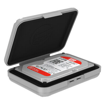 Easy Labeling 3.5 Inch HDD Hard Drive SDD Storage Protector Case Box Shockproof