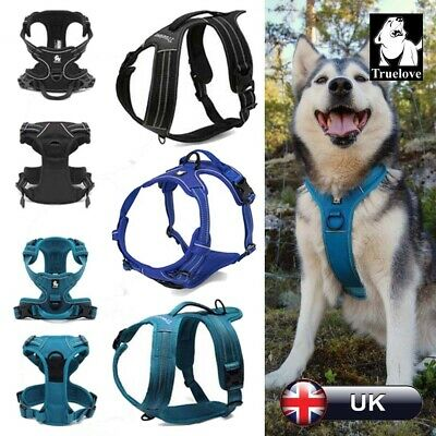 Truelove Dog Puppy Harness No-Pull Strong Adjustable 3M Reflective Padded Chest