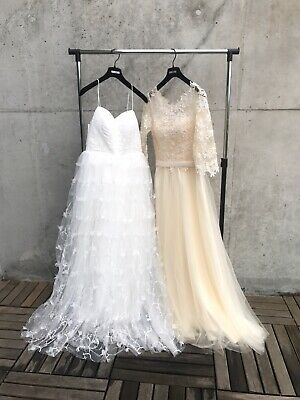 2 NEW wedding dress AU8 with full set accessories