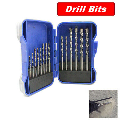 15pcs Tungsten Steel Masonry Power Shank Drill Bit Set Brick Wall 3/4/5/6/8/10mm