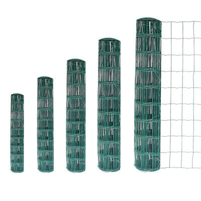 PVC Coated H90, 120 or 180cm Wire Mesh Fence Green Garden Screen Fencing Panels
