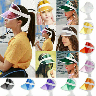 Summer PVC Hat Sun Visor Party Casual Hat Clear Plastic Adult Sunscreen Cap CA